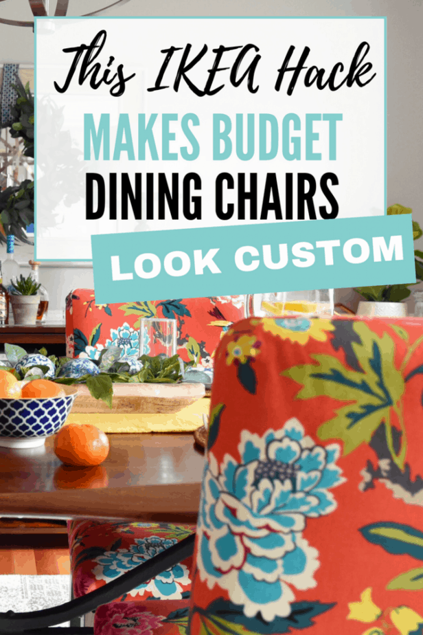 Wow! This IKEA Hendriksdal hack totally makes your dining chairs look custom. What an awesome decorating trick!