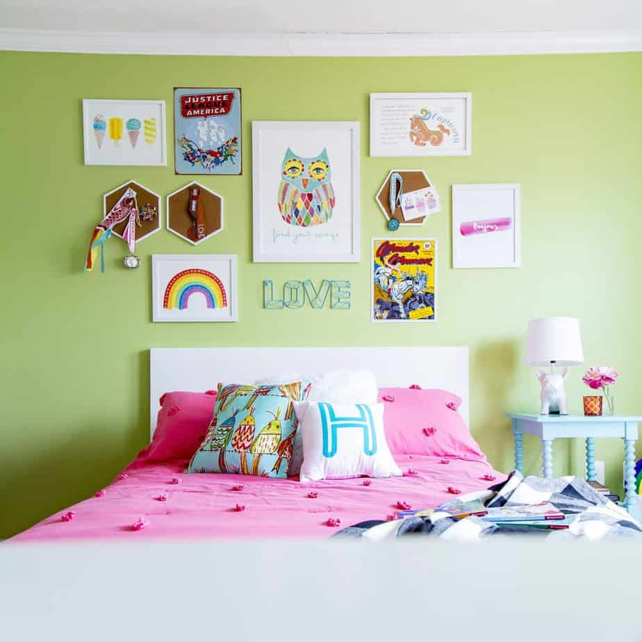 girls kids rainbow bedroom 2
