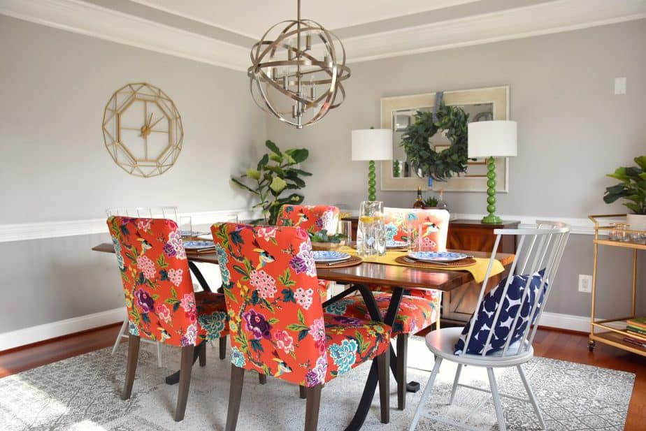 colorful dining room kid friendly