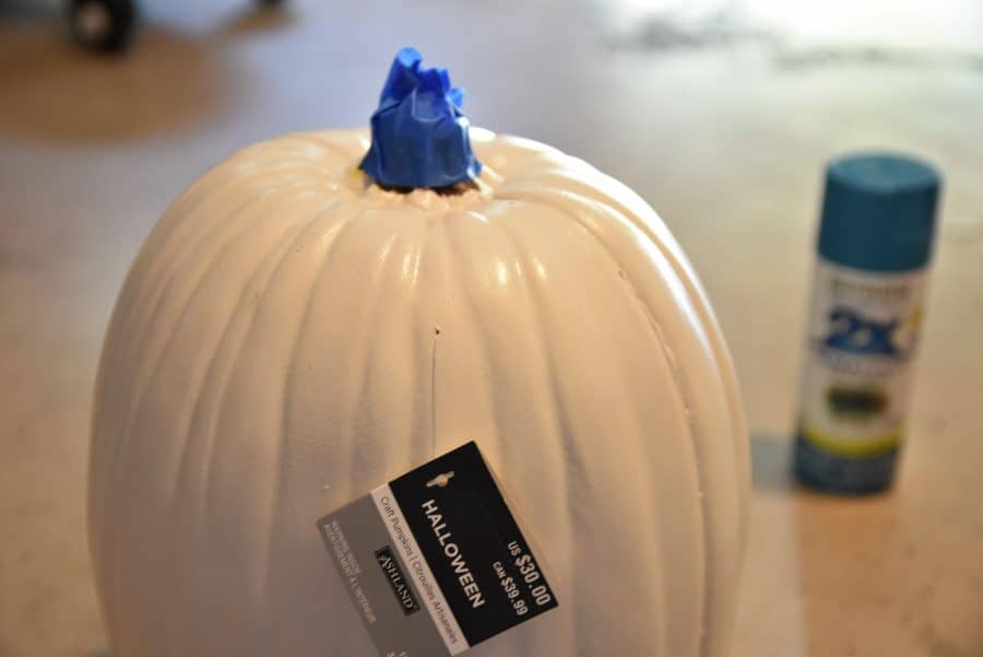 diy fall pumpkin decor before
