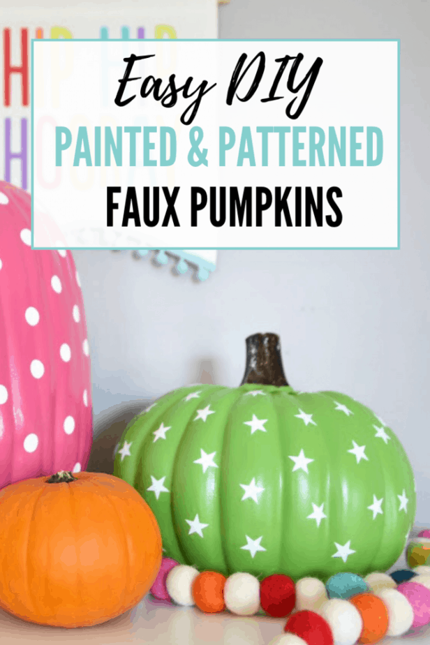 These easy DIY colorful pumpkins are SO cute for fall!
