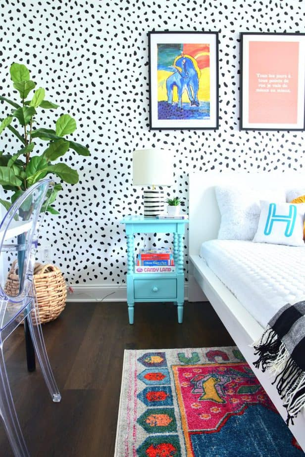 colorful girls bedroom makeover 2