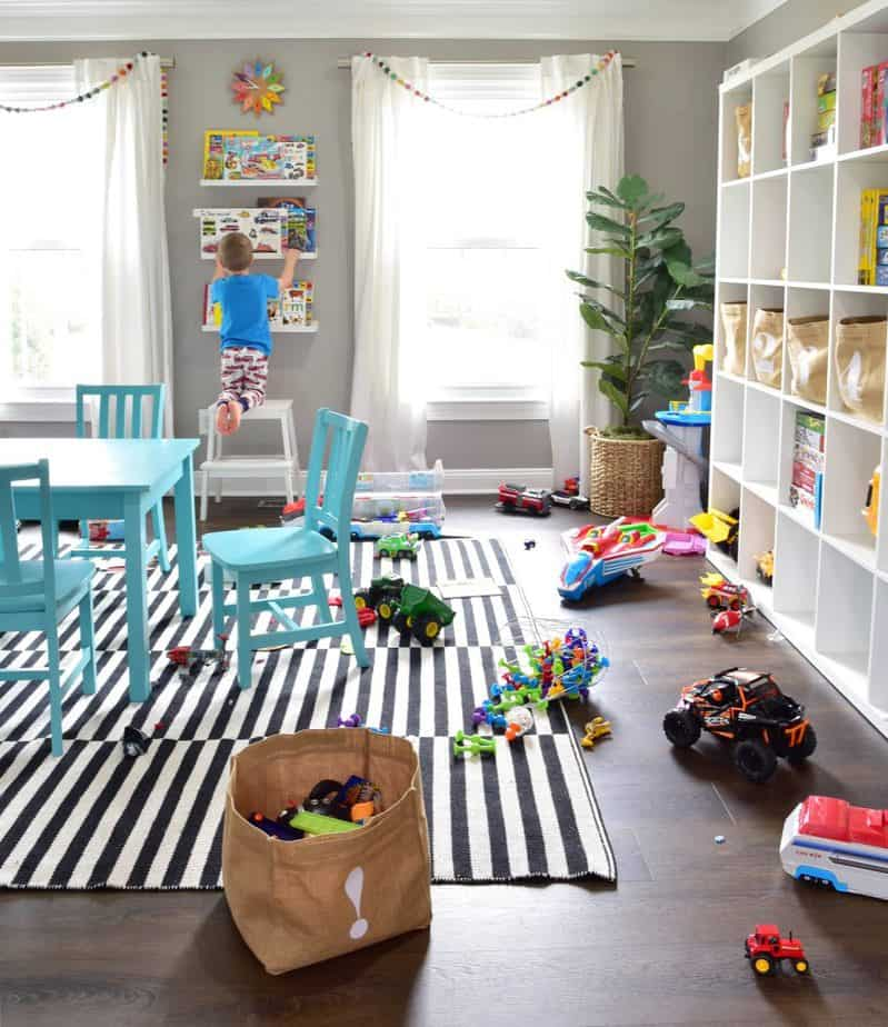 colorful kids playroom design