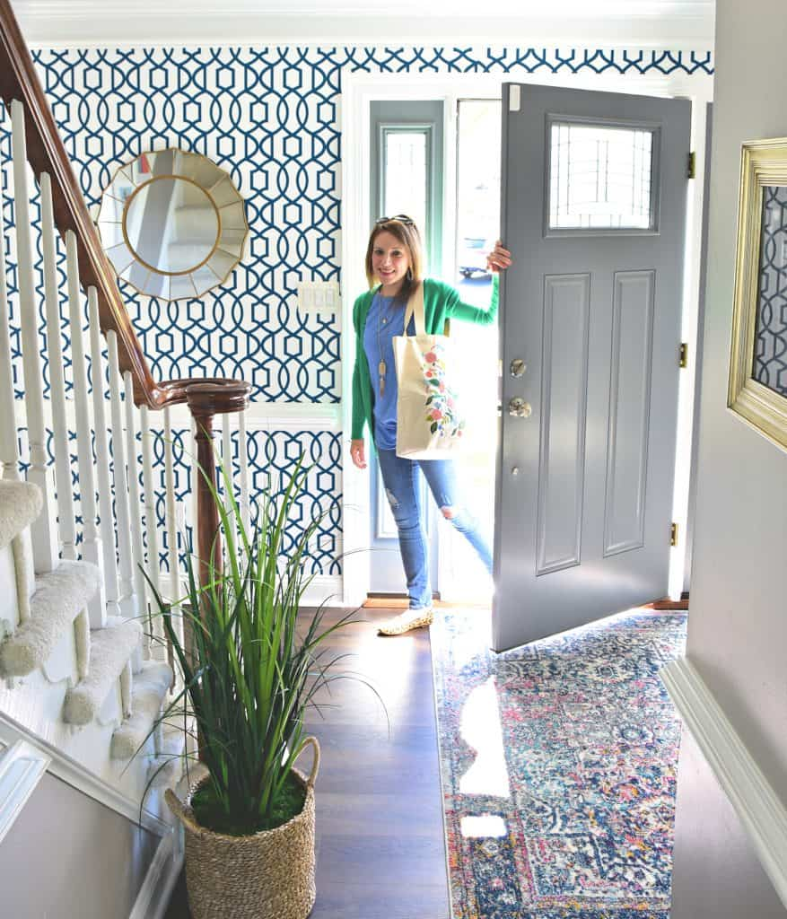 easy weekend foyer makeover